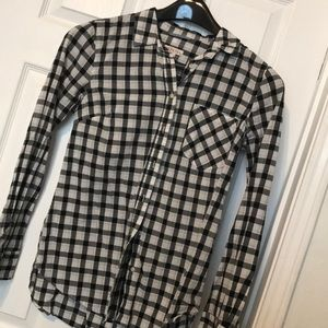 Black and White Checkered Gingham button up